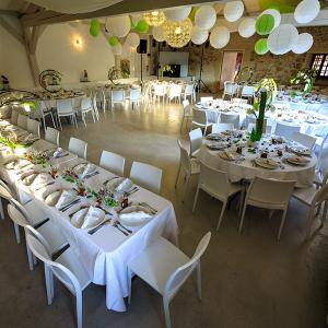 Tables pour grande réception Bastide de Jaillans