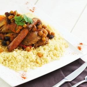 Plat cuisiné couscous
